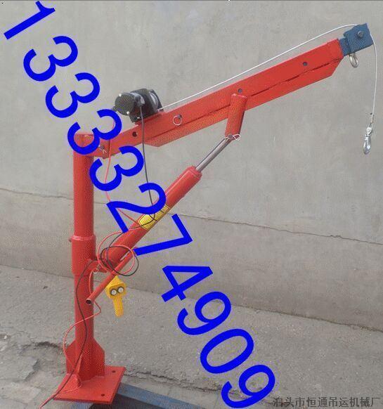 新款车载液压小型吊运机使用流程图片