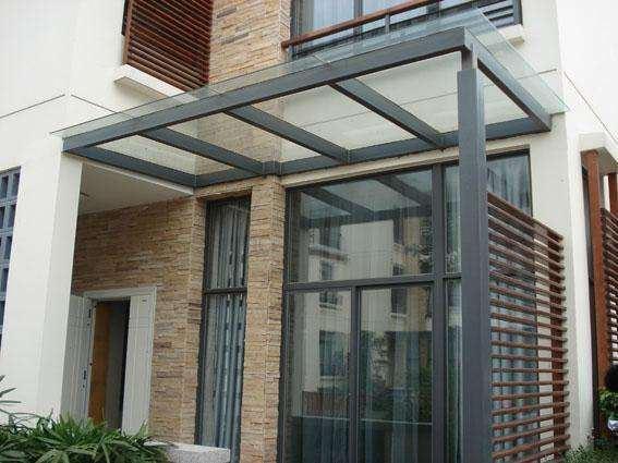 钢结构雨棚计算_钢结构玻璃雨棚