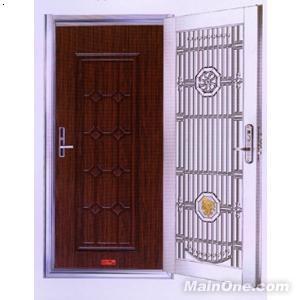 不锈钢格栅门 内门 钢塑欧式装甲门