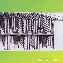 阁楼式货架构造示意图