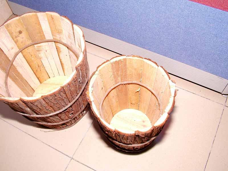 小学生手工制作木桶