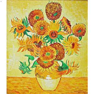梵高两朵向日葵 梵高七朵向日葵 梵高向日葵油画原画 图片 26k 300x