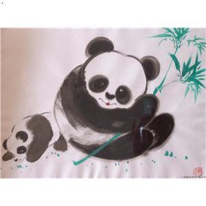 熊猫水彩画