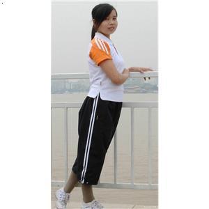 校服手绘设计图长裤