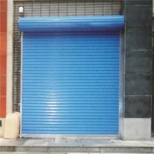 蓝色卷帘门
