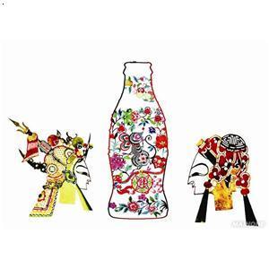 可口可乐瓶皮影戏