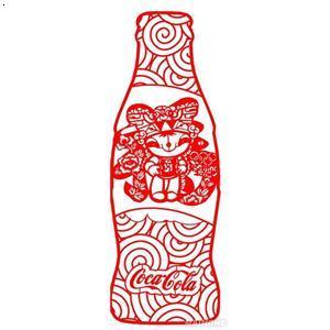 【可口可乐艺术瓶(剪纸)】厂家