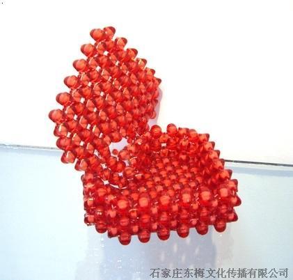 串珠心型首饰盒