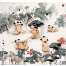 【傅小石-荷花仙子】厂家,价格,图片_南京书画_必途网图片
