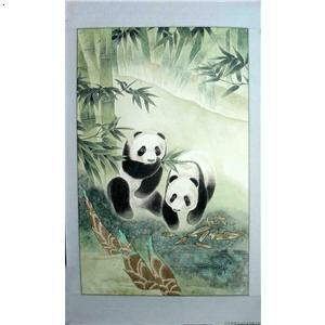 国画 动物画 熊猫