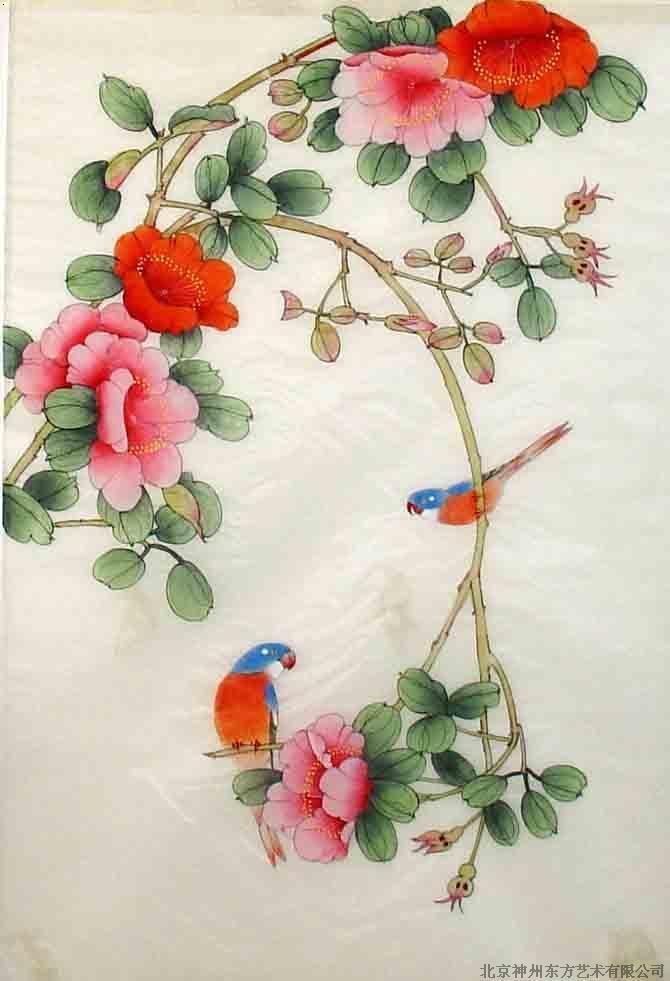 国画工笔月季花画法高清壁纸