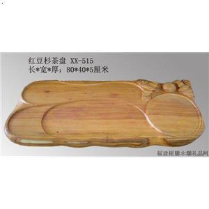 红豆杉木雕茶盘