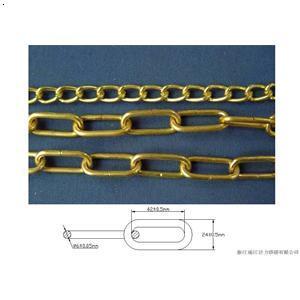 铁链 环形链条 扭曲链 喷塑链条 锁用链条 汽车防滑链图片
