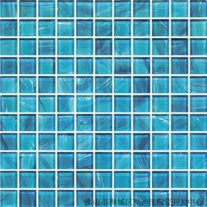 【手绘蓝色游泳池玻璃马赛克】厂家