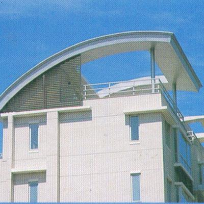 """屋顶""""天球瓶""""式金冠,银冠,紫冠,彩冠设计,全钢底盘及闭合式钢骨架结构"""