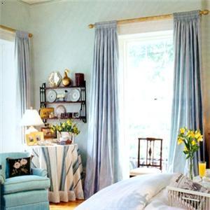 对角墙窗帘马克笔手绘