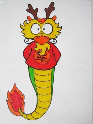 儿童画龙的简笔画; 卡通龙简笔画;