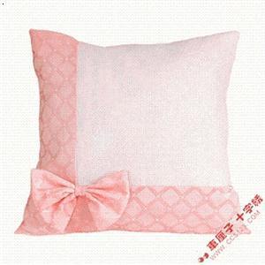 空白蝴蝶结抱枕套(蓝色,粉色,黄色)