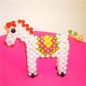 串珠小动物--马_diy瑞丽手工坊-必途