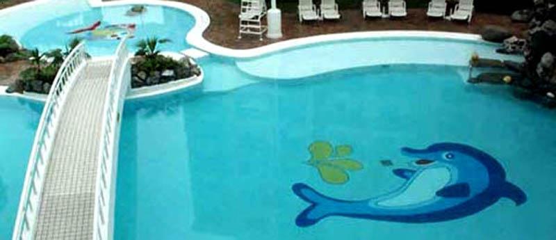 游泳池玻璃马赛克拼图