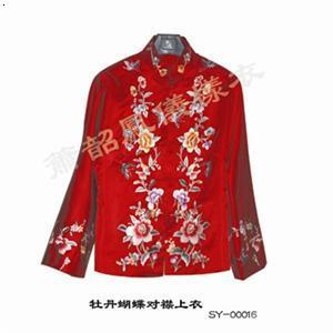 牡丹蝴蝶对襟上衣