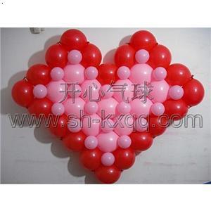 节日心型气球拱门.爱心气球