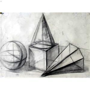 素描石膏 灵感画室图片