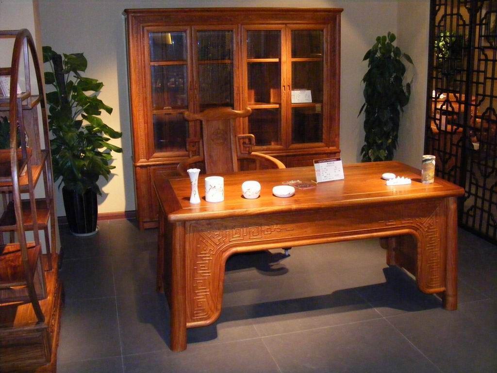 红木大书桌欧式