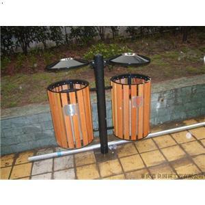 【钢木双桶垃圾桶】厂家