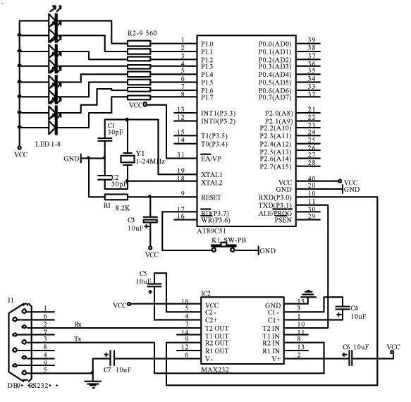 详情:单片机开发板电路图
