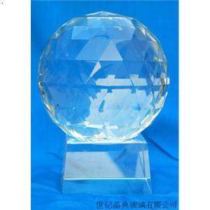 透明三角形刻面水晶球】厂家