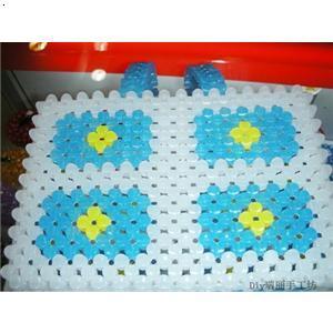 串珠纸巾盒花样图纸 kt猫串珠纸巾盒 串珠梅花纸巾盒图解