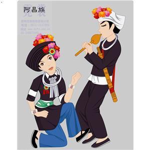 阿昌族少数民族服装12