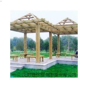 必途 找产品 钢结构 防腐木凉亭; 防腐木凉亭施工图;
