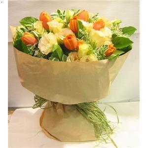 韩式花束包装步骤
