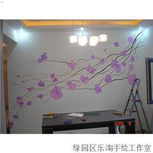长春手绘背景墙