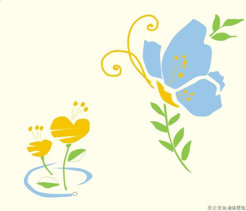 必途 找产品 涂料,油漆 艺术涂料 特种涂料 >蝴蝶花印花壁纸  中国