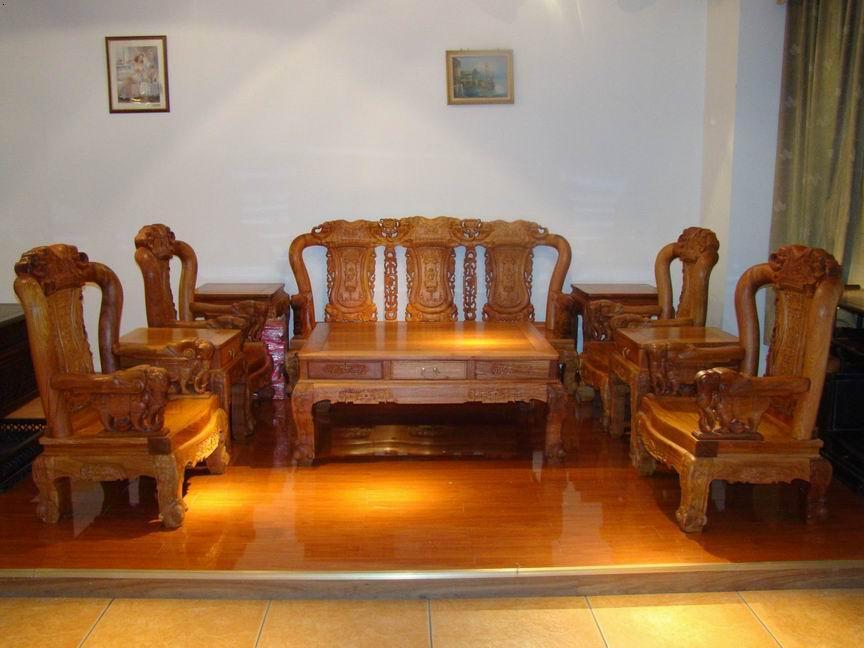 深圳红木家具富贵大象沙发客
