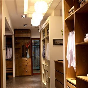 开放式整体衣柜图片