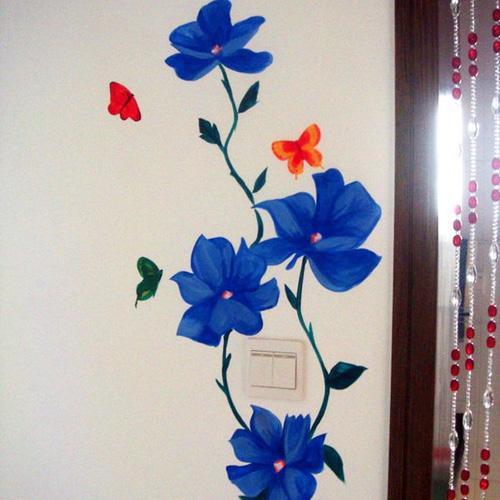 手绘墙壁简单图片