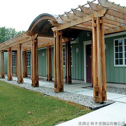 沈阳防腐木廊架