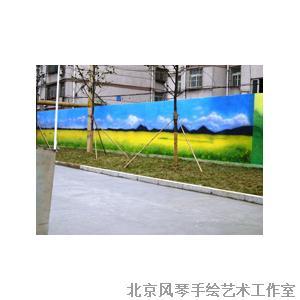 建筑物外墙手绘