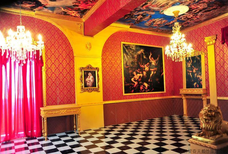 欧式宫廷图,紫白色欧式宫廷婚礼