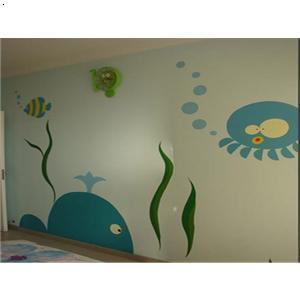 儿童房墙体彩绘