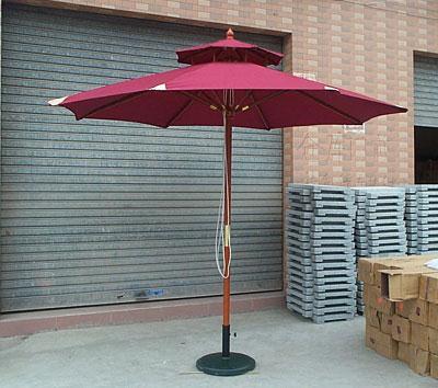 木伞侧立伞庭院伞