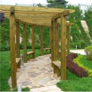 产品首页 建筑,建材 木质材料 原木 防腐木廊架
