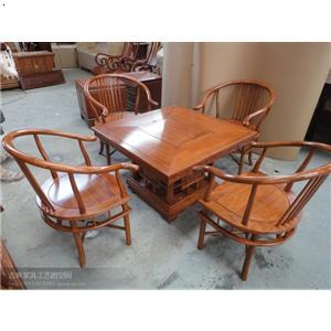东阳木雕/仿古家具/红木家具/非洲花梨木四方茶桌