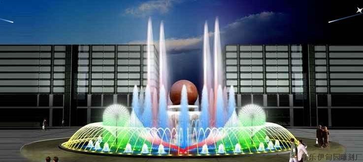 喷泉铺装广场_旱喷广场铺装及灯光喷泉细部pilonghua1988