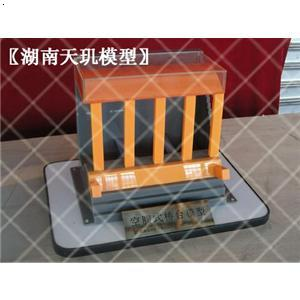 各种类型的桥台结构展示模型