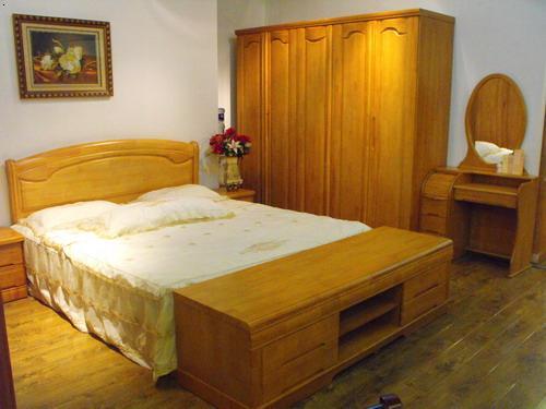 中式实木床供应商 中式实木床批发商 必途 -实木家具 实木床